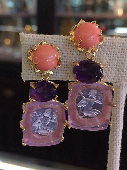 Hazel Smyth Intaglio earrings