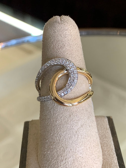 14KT diamond apex ring