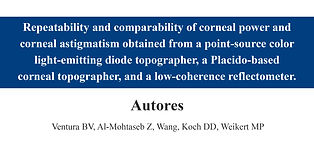 Repeatability and comparability of corne