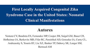 First Locally Acquired Congenital Zika S