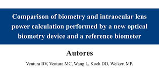 Comparison of biometry and intraocular l
