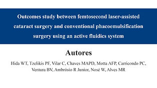 Outcomes study between femtosecond laser