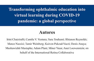 Transforming ophthalmic education into v