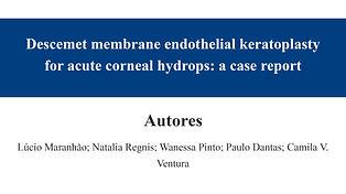 Descemet membrane endothelial keratoplas