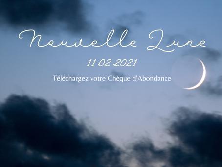 Nouvelle Lune & Chèque d'Abondance