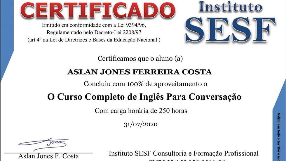 INGLÊS PARA CONVERSAÇÃO: 127 reais