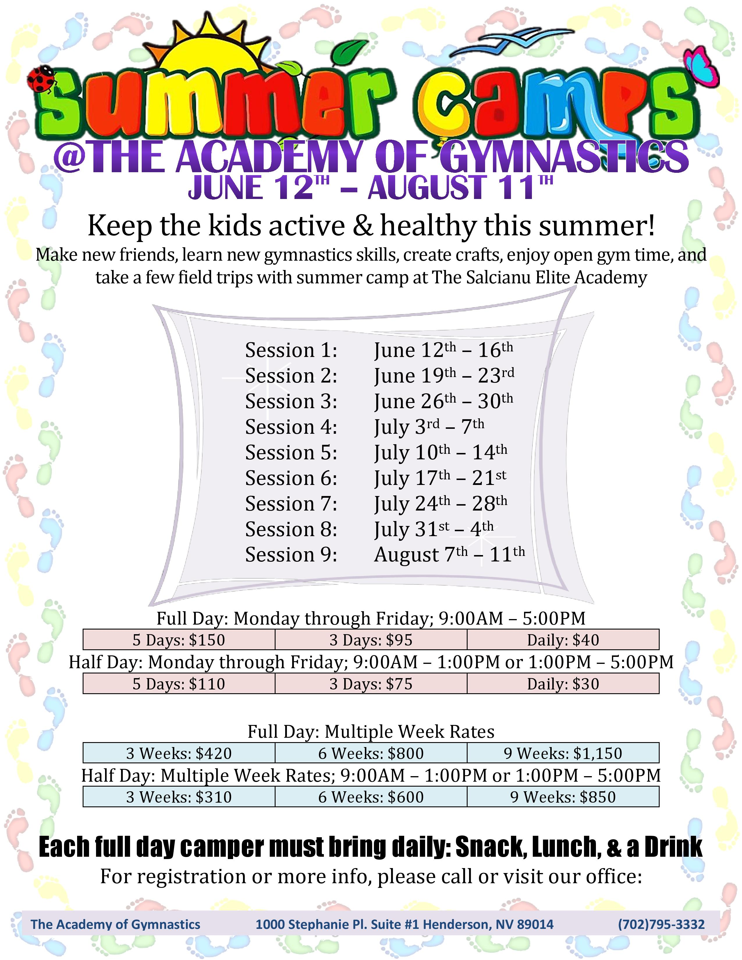 06-12 _ Summer Camp Flier 2017