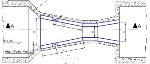 Calha-Parshall-Dimensões-Internas-Hidrometer