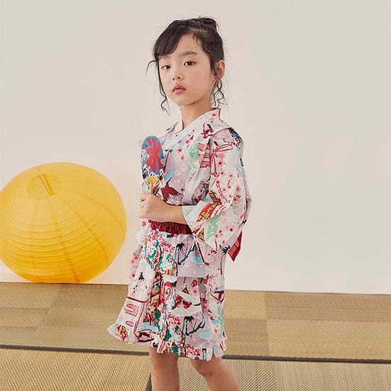 日系女童純棉浴衣 BJ15906