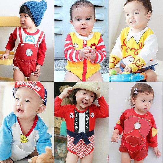 嬰幼兒長袖連體衣