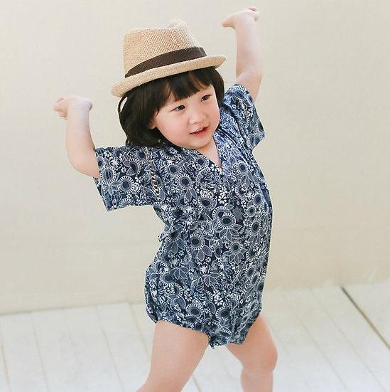 Augelute嬰幼兒純棉短袖日本浴衣 AA54123A