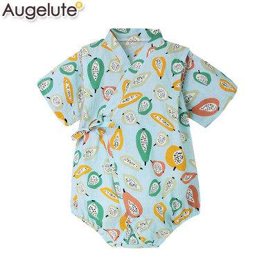 Augelute嬰幼兒純棉短袖日本浴衣 AA54214