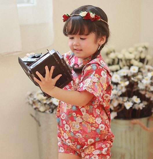 嬰幼兒純棉短袖日本浴衣 AA54123