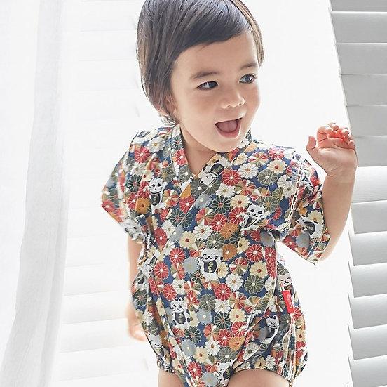 Augelute嬰幼兒純棉短袖日本浴衣 AA54213