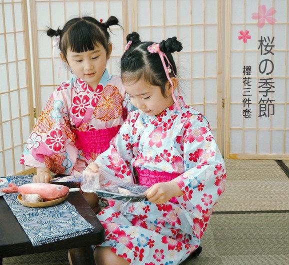 日系純棉和服櫻花兔子 BJ15902