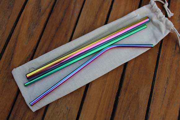 5 Piece Metal Straw Set