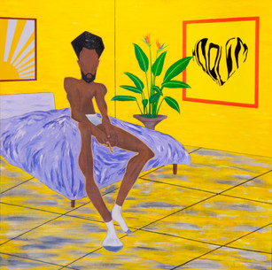 """Natasha Quintano, """"More Than Friends,"""" acrylic on canvas (inspired by Beauford Delaney)"""