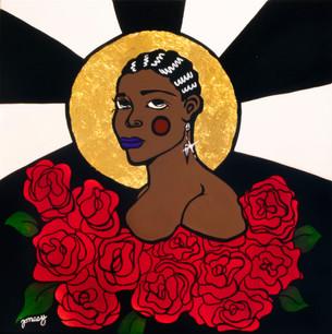 "Hannah ""Jonesy"" Jones, ""Miss Ethel Waters,"" mixed media (inspired by Ethel Waters)"
