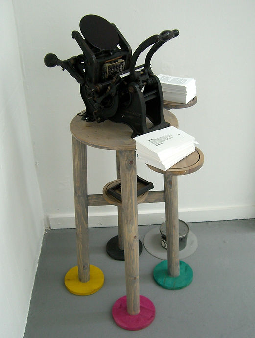HTML press - assemblage - Chris Mercier 2009