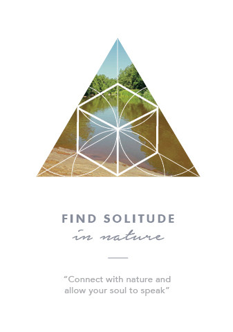 Find Solitude in nature card from the Soul Practice Oracle Card deck