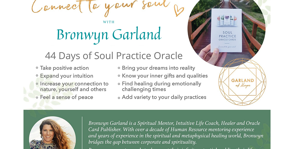 44 Days of Soul Practice Oracle with Bronwyn Garland