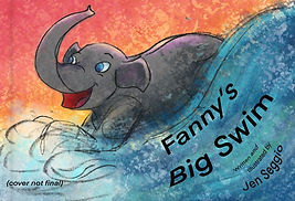 Mock front book cover for Fanny's Big Swim