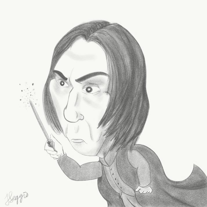 Alan Rickman Caricature