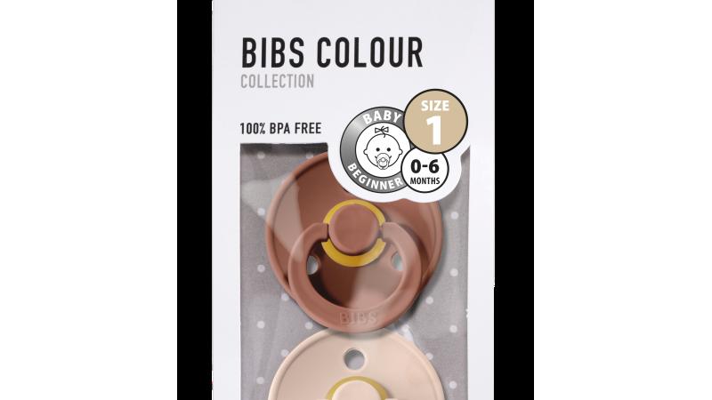 Bibs Fopspeen natuurrubber - Blister Woodchuck/Blush T1