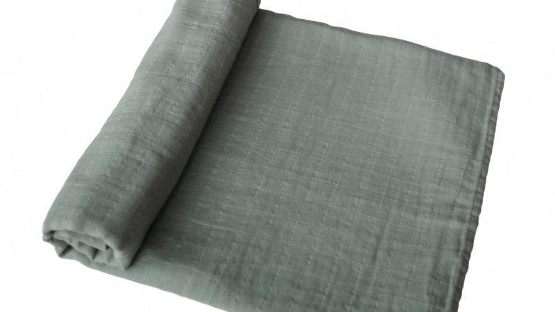 Mushie Swaddle Hydrofiel doek Roman Green 120x120cm
