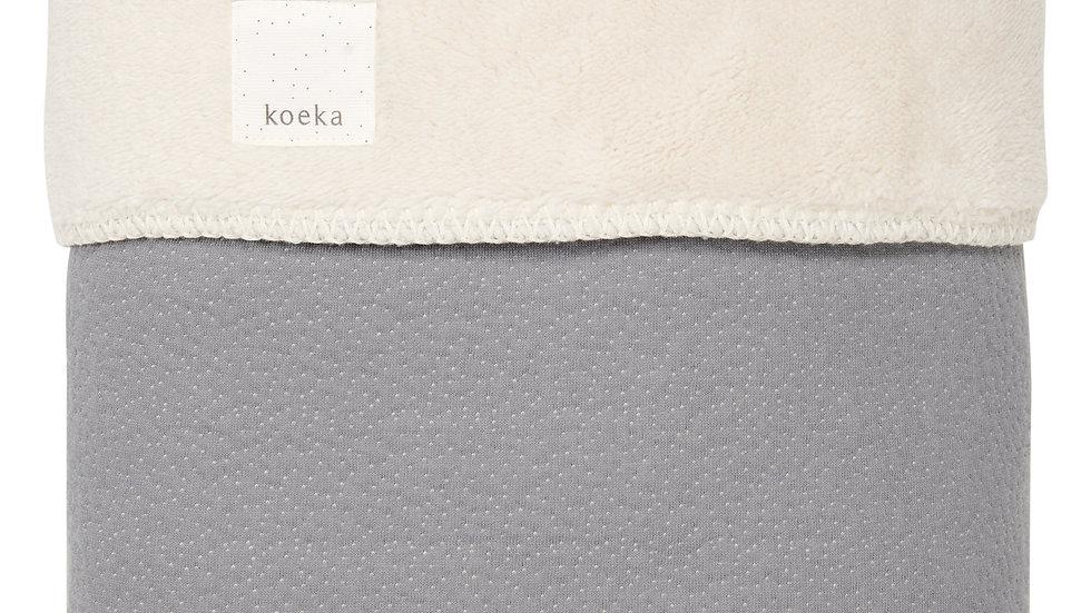 Koeka Deken Teddy Riga Steel Grey 75x100