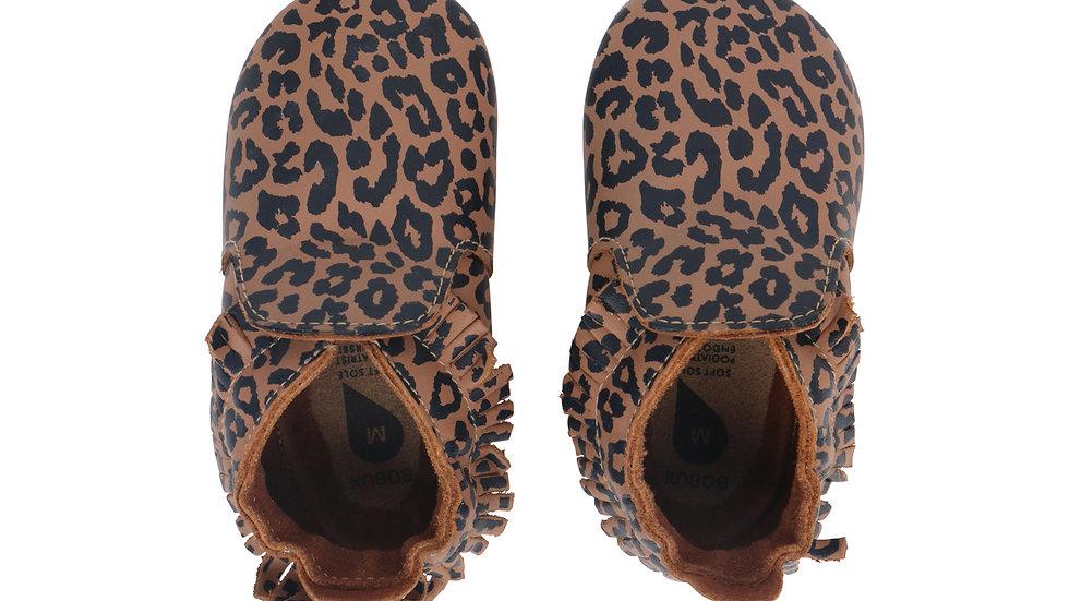 Bobux Soft Soles Caramel Leopard