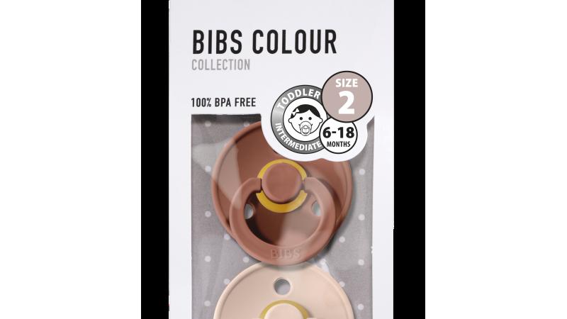 Bibs Fopspeen natuurrubber - Blister Woodchuck/Blush T2