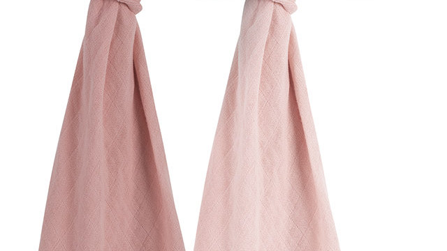 Jollein Bamboe Hydrofiele Doek 115x115cm Pale Pink (2pack)