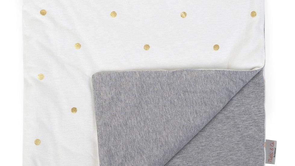 Childhome Dekentje 80x100cm Jersey Gold Dots