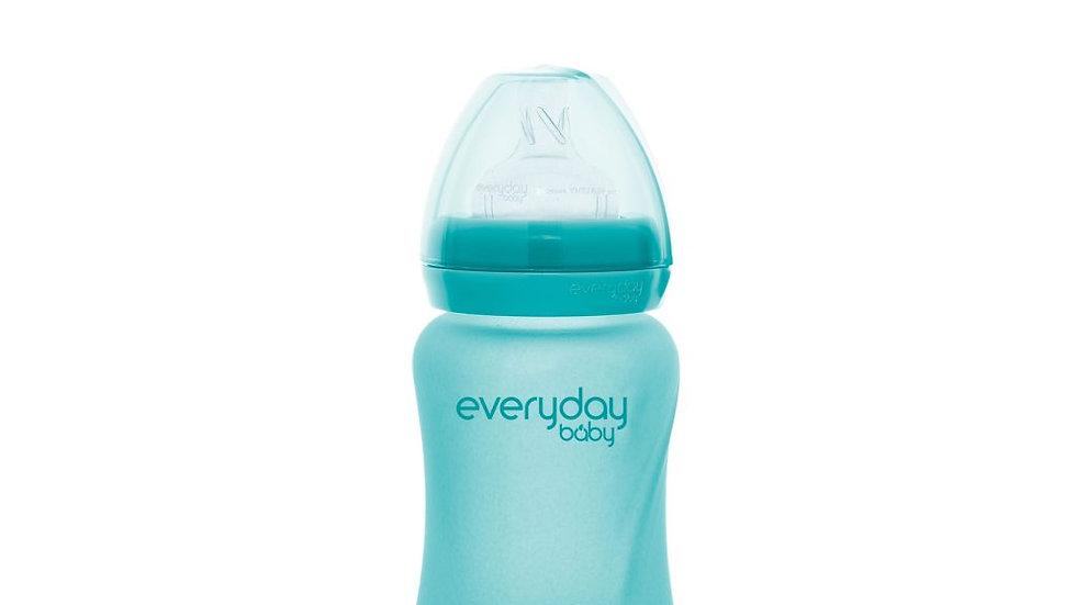 EverydayBaby glazen fles heat sensing 150ml Turquoise