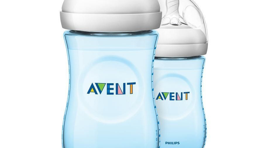 Avent Natural Zuigfles Duo 260ml Blauw