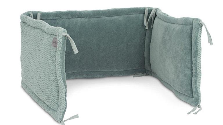 Jollein Box/Bedbumper 35x180cm River Knit Ash Green