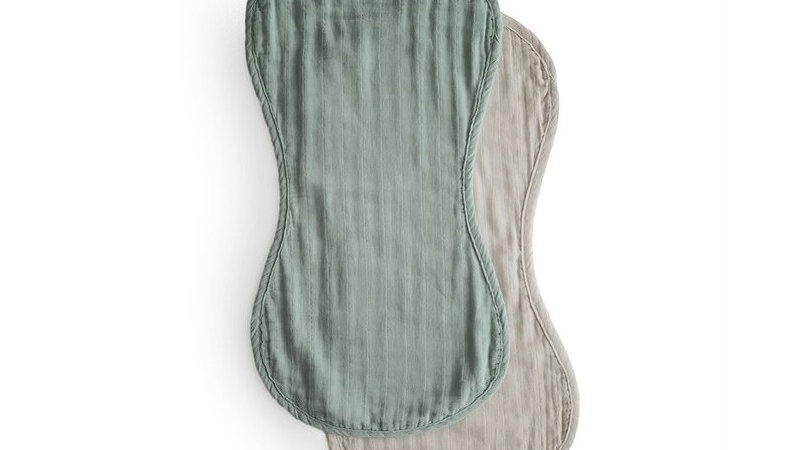 Mushie Burb Cloth Roman Green/Fog