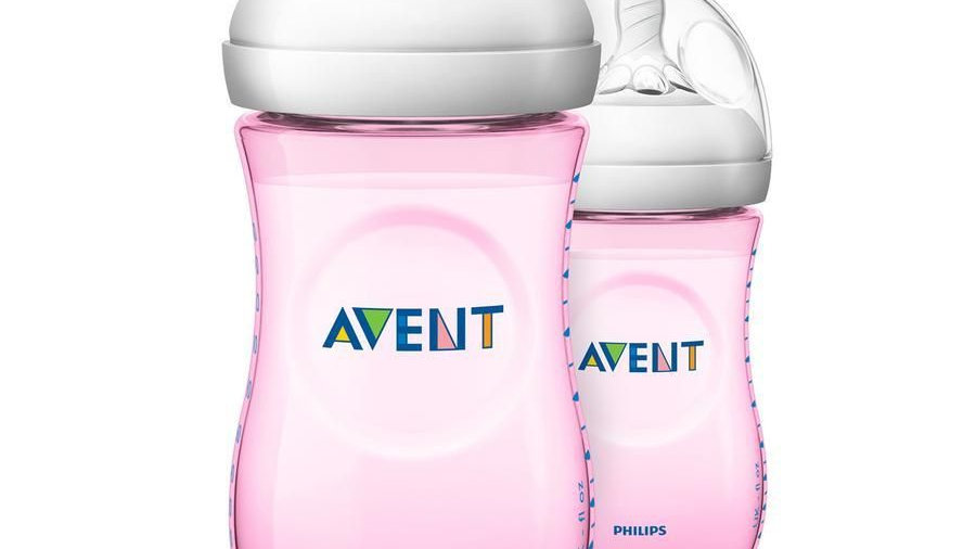 Avent Natural Zuigfles Duo 260ml Roze