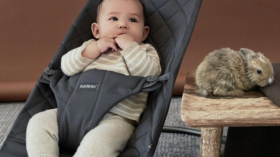 BabyBjörn Bouncer Bliss Cotton Antraciet