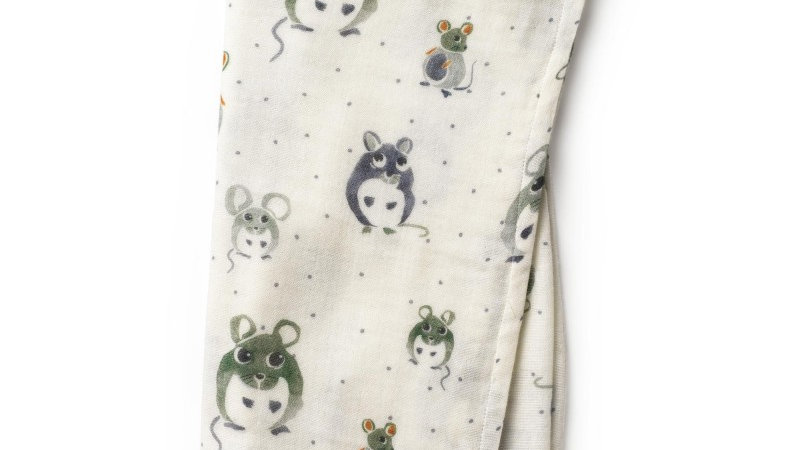 Elodie Bamboe Hydrofiele doek Forest Mouse Max