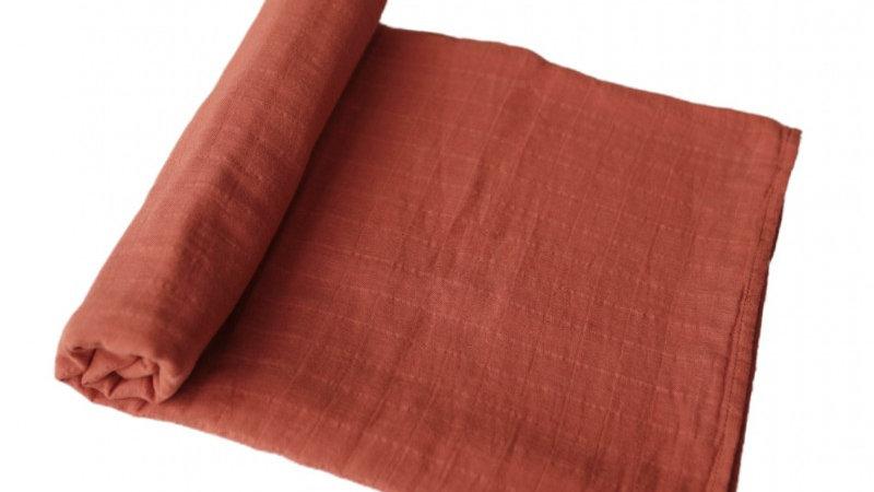 Mushie Swaddle Hydrofiel doek Auburn 120x120cm