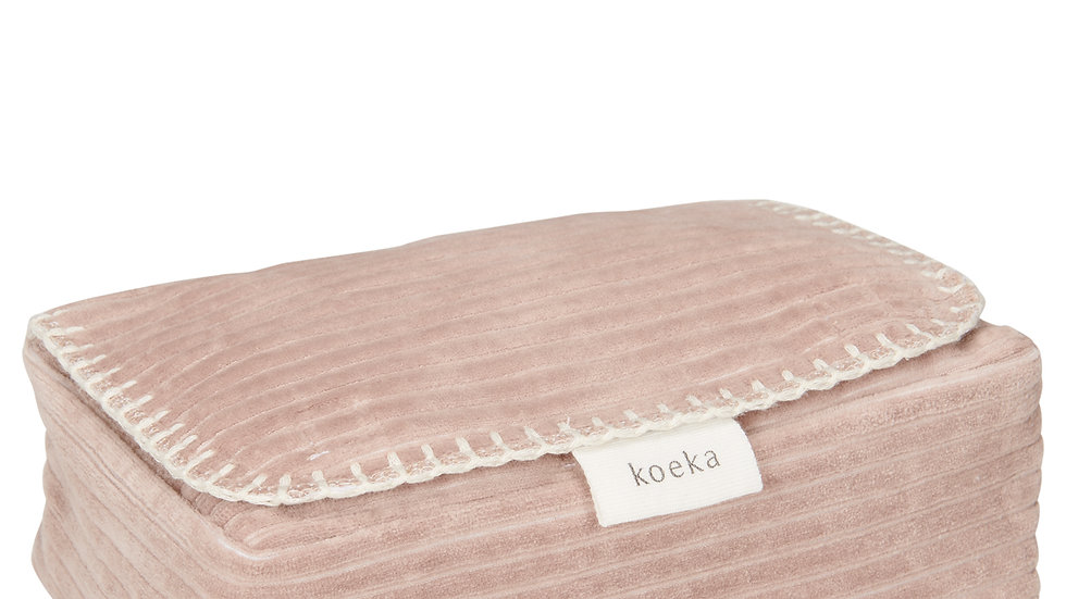 Koeka Hoes voor babydoekjes Vik Grey Pink