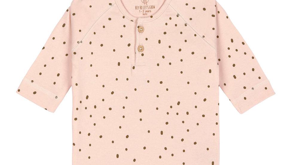 Lässig Long Sleeve Shirt Gots Dots Powder Pink