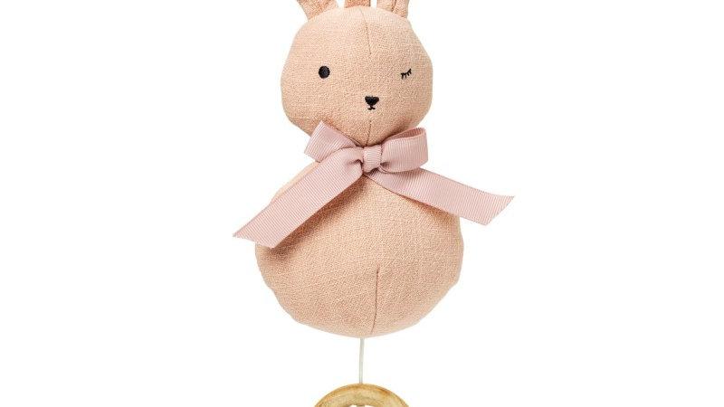 Elodie Muziekmobiel Powder Pink Bunny