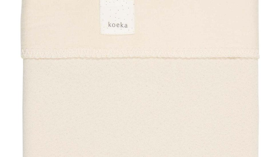 Koeka Wiegdeken Flanel Runa  Warm White 100 x 150cm