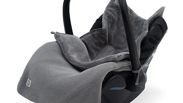 Jollein Voetenzak Groep 0+3/5 punts Basic Knit Stone Grey