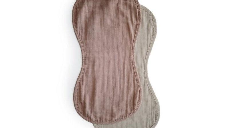 Mushie Burb Cloth Natural/Fog