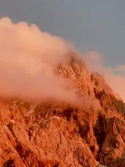 bayrische Bergwelt am Abend