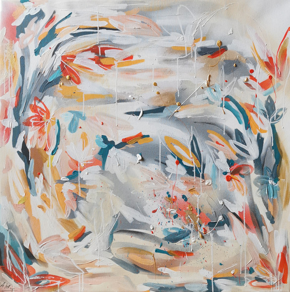 Run to you / 100x100 cm